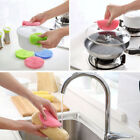 Kitchen Dishwasher Silicon Double Side Cleaning Dish Washing Scouring Pad Sponge