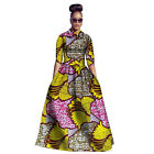 Fashion Womens Traditional African Print Dashiki Dress 3/4 Sleeve Plus Size