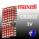 50~20~10 x Genuine Maxell CR2032 Lithium Blister Battery Batteries Japan Made