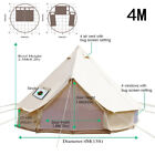 3M 4M 5M 6M Cotton Canvas Bell Tent Waterproof Civil War Camping Yurt Glamping