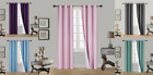 NEW 2 PANEL SILVER GROMMET WINDOW DRESSING LINED CURTAIN TREATMENT DRAPE