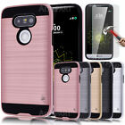 For LG G5/H850 Shockproof Armor Case Cover+ Tempered Glass Protector Screen Film
