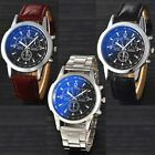Men Watch Wrist Stainless Steel / Leather Quartz Analog Fashion Sport | 3 Colors image