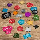 Custom LASER Engraved Aluminum Pet ID Tag  Personalized Name Dog Cat ID 2 Sides