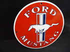 VINTAGE FORD MUSTANG PORCELAIN DEALERSHIP SIGN   (SELLING AS USED)
