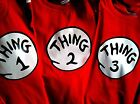 thing 1 and thing 2 t-shirts infant toddler kids adult thing one two Halloween
