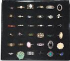 36 vintage costume cocktail rings Beautiful collection!