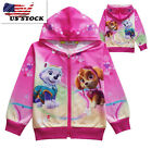 Внешний вид - Childrens Kids Girls Paw Patrol Pocket Zip-Up Hoodie Jacket Sweatshirt K56