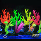 Glowing Effect Artificial Coral Plant Fish Tank Decoration Aquarium Ornament
