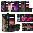 For ZTE Fanfare 3 Blade Vantage Avid 4 Tempo X Rugged Case w/Stand Cover