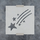 Shooting Star Stencil - Reusable Stencils of Shooting Star in Multiple Sizes