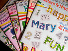 Color your own Sticker Books Simple Fun Projects Flowers, Letters, Party, Nature