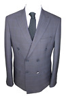 Jack Martin - Ash Grey Check Double Breasted Suit