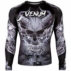 Venum Men's Minautorus Long Sleeve Rash Guard MMA BJJ Black/White
