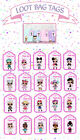 LOL DOLLS Thankyou loot bag party favour swing tags labels girls birthday favors