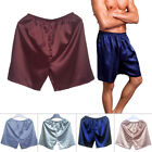 NEW 100% Satin Mens Underwear Boxers Shorts Pyjamas Sleepwear Pants L-XXXL Gift