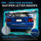 1999-2004 Ford Mustang Rear Bumper Insert Vinyl Decal Letters Gloss Carbon Fiber