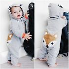 Infant Baby Boy Girl Clothes Cotton Lovely Fox Jumpsuits Bod