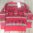 MARVEL SpiderMan Ugly Christmas Sweater Youth Pull Over Age 9-10 NWT FREE SHIP
