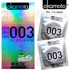 Okamoto 003 PLATINUM condoms 0.03 thickness Super Ultra Thin Retail box of 10