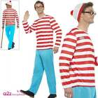 Adult Wheres Wally Wenda Costume Womens Mens Couples Book Week Day Fancy Dress