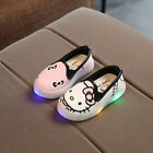 LED Baby Boys Girls Child Canvas Shoes kids Light Up Luminous Trainers Sneakers