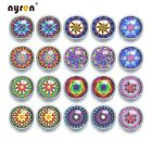 20pcs/lot 12mm Snap Button Mixed Pattern Glass Snap Charms Fit 12mm Snap Jewelry
