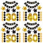1 16 21 30 40 50 60th Happy Birthday Set Foil Number Balloons Helium Party Decor