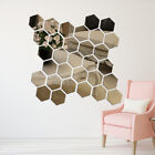 off the wall powerball - 12 Pcs Geometric Hexagon 3D Art Mirror Wall Sticker Decal Home DIY Decor Ornate