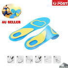 Massaging Gel Shoe Insoles Arch Supports For Men Women Sports Shock Absoring