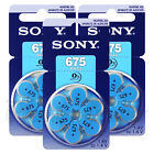 SONY Hearing aid 675 Size batteries Zinc Air PR44 1.4V Mercu