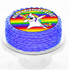 FUNNY Dabbing Rainbow Unicorn Hiphop Dance Birthday Party Cake icing sheet