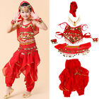 Children Kids Girls Belly Dance Costume Suit Sets Indian Bollywood Outfits New