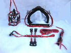 BIOTHENE QUICK HITCH TROTTING HARNESS IN RED FULL, COB, PONY, SHETLAND SIZES