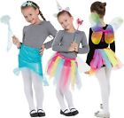 Girls Fairy Mermaid Unicorn Bright Rainbow Fun Fancy Dress Costume Outfit Kit