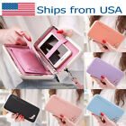 Women Lady Leather Wallet Purse Long Handbag Clutch Box Bag Phone Card Holder US