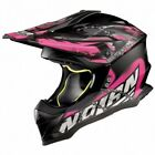 NOLAN CASQUE CROSS N53 NO ENTRY FLAT ASPHALT BLACK/PINK