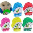Baby Teething Mitten Teething Mitt Glove Silicone Sounding Open Candy Teether LJ