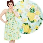 Voodoo Vixen Layla Pineapple 50s Halter Dress Vintage Rockabilly Pin Up Retro