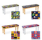 SPORTS THEME MAN CAVE WHITE OR NATURAL FINISH WOOD DINING BENCH SEAT CUSHION