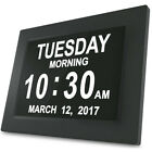 Day Clock Extra Large Impaired Vision Digital Clock with Battery Backup xx