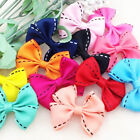 30 Pcs U pick Big Grosgrain Ribbon Bows Flower Appliques Wedding Craft A0168
