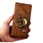 Retro Unicorn Magnetic PULeather Card Holder Wallet Flip Case Cover For Acer