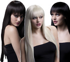 Ladies Professional Quality Natural Long Straight With Fringe Fancy Dress Wig