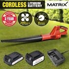 NEW Matrix 20V Lithium Cordless Leaf Blower Electric Garden Tool Skin Only