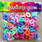 100Pcs Kids Girl Elastic Rope Hair Ties Ponytail Holder Head Band Hairbands LB6