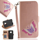 Butterfly Wallet Leather Flip Magnetic Case Cover For Moto E4 E4 Plus G5 G5 Plus
