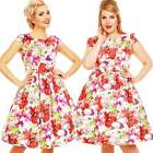 Dolly and Dotty Vanessa 50's Swing Dress Floral Rockabilly Pin Up Retro Vintage