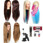 Salon Long Hair Styling Hairdressing Practice Doll Head Training Mannequin Clamp