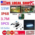 15W IP68 Aquarium Fish Tank Submersible Light UV Sterilizer Water Clean Lamp TD